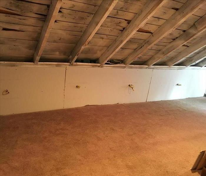 Mold in Attic and Behind Bedroom Walls After