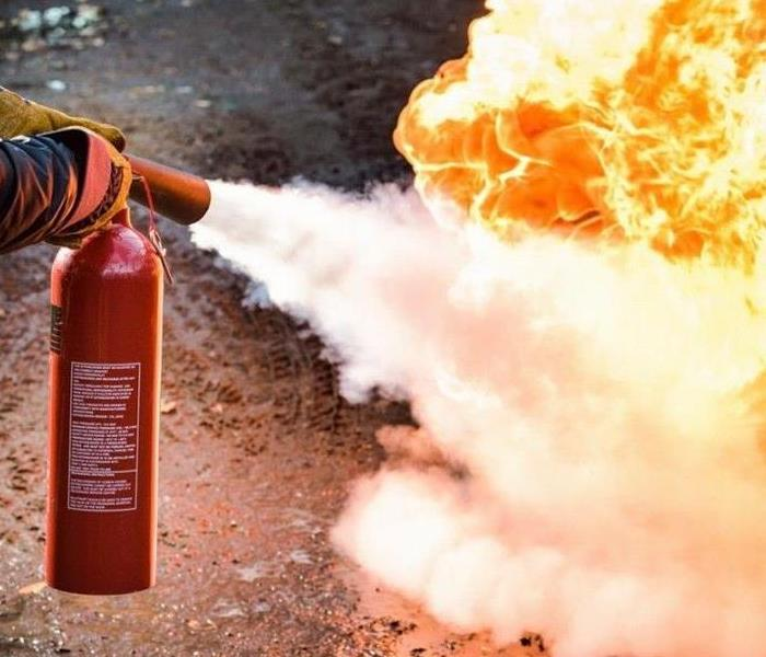 Fire Extinguisher Being Used