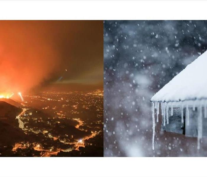 Wildfire & Snow Covered Roof