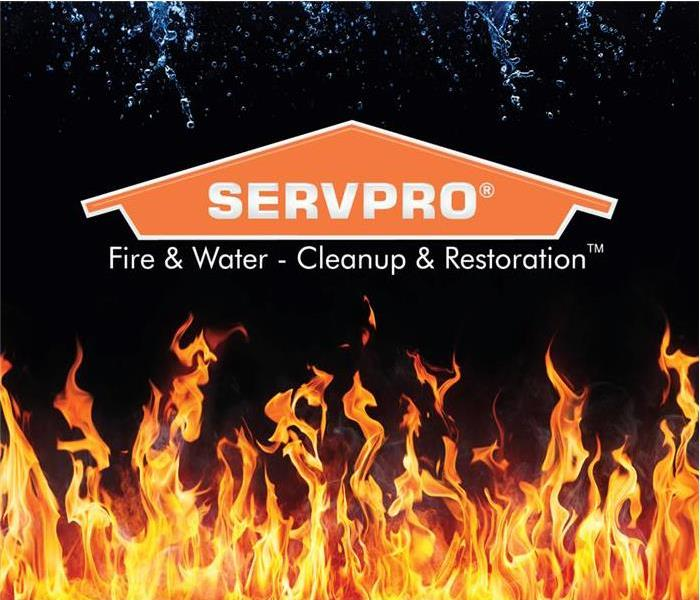 Flames with SERVPRO Logo